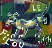 Le Filou - pintura original - Jacqueline_Ditt.