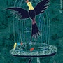 Liberty Bird - limitierte Original Grafik - Jacqueline_Ditt. Universal Arts Galerie Studio Gmbh