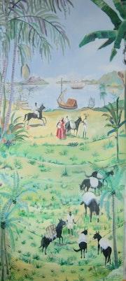 Ambiente del Caribe del siglo XIX a principios. Cadilhac Jean