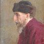 Retrato de un hombre viejo… Óleo sobre lienzo… 1954! ! !. Axel Zwiener