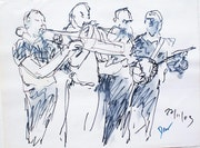 Chilenische Jazz-Ensemble. Roberto Dannemann