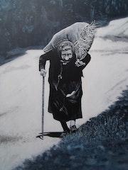 Die Tasche und laut und der Weg ist lang. Alain Charousset
