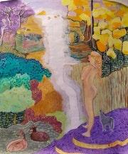 Forêt de Brocéliande, une fée égarée.