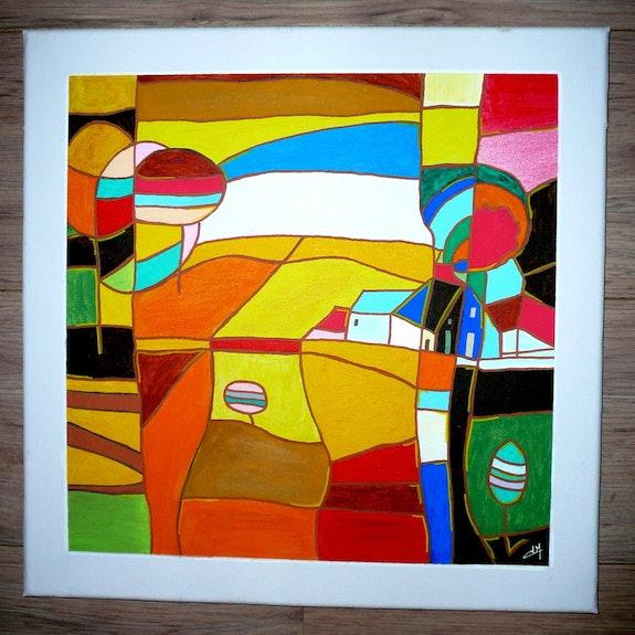 Paysage coloré en puzzle. V. Naffetat V. N.