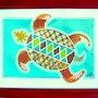 Liberación de tortugas oscuras aguas. V. N.