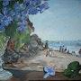 Violettes et tableau. Althéia - Martine Vinsot