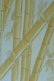 Monochrome yellow bamboo.