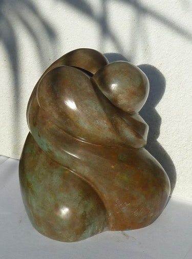 Tenderness, Original Edition, patinated bronze, foundry fbl. Flore De Valicourt