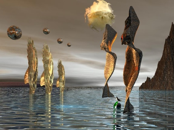 Landscape Plasma 117 - Generation cosmos sculptures -. Micheline Laufer Lauferartsuisse