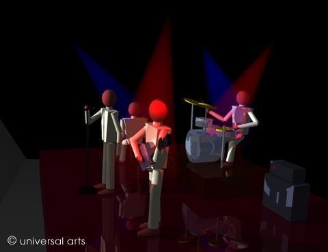The Band 4 - limitierte Original Grafik - Mario Strack. Mario Strack Universal Arts Galerie Studio Gmbh