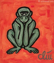 The helpless Monkey - original painting - Jacqueline_Ditt.