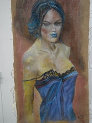 Femme sexy blue.