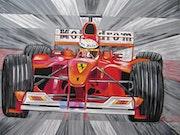 Motodrom der Formel1 mit Ferrari.