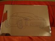 Engraved by hand box, Nissan 350z. Desireé Delgado