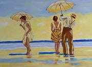 Romantische Strandspaziergang. Tania. Hoenner