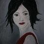 La morena de rojo. Ghislaine Phelut