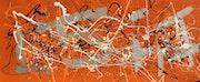 7.3 Shugar Brown nouvelle peinture de Jackson Pollock Style action 2011 et ruisselant. Docth