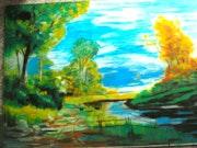 Flusslandschaft.