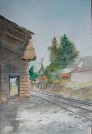 Antigua Estacion de Ferrocarril en Lerma, Mexico.