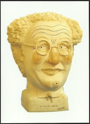 Bust of Mr. coluche.