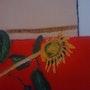 Stilleben eines getrockneten Sonnenblumen. Yann Lefebvre