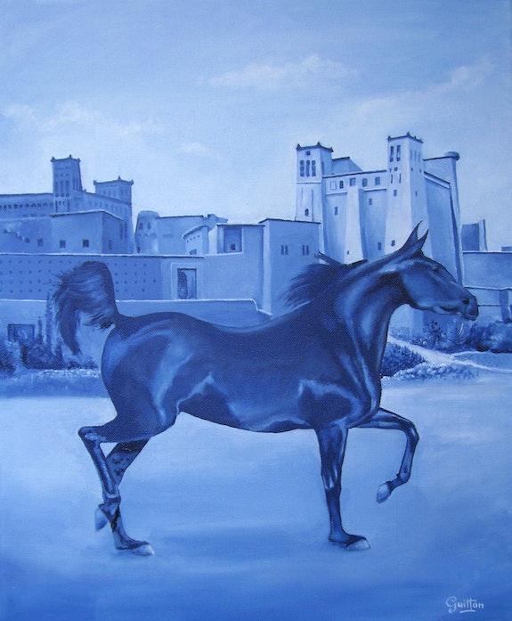 Horse to Ouarzazate. Guitton René Guitton
