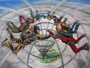 Fallschirmspringer - Herren der Ringe auf dem Weg zum Mittelpunkt der Erde.