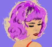 Die 7-Pop-Art Portrait de Femme. Brigit
