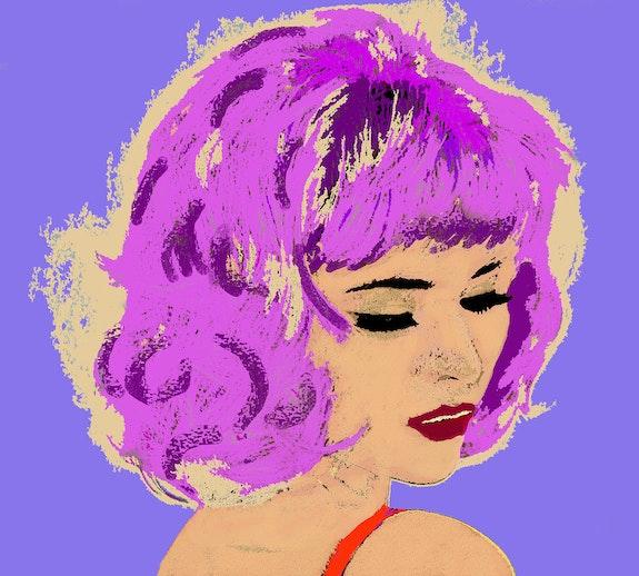 Die 7-Pop-Art Portrait de Femme. Brigitte Lapeyre Brigit