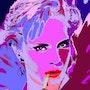 Die 10 Pop-Art von Sylvie Vartan. Brigit