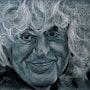 Portrait au fusain d'Angelo Branduardi. Philippe Flohic
