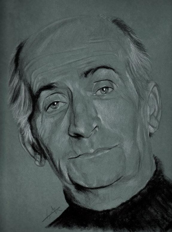 Retrato de Louis de Funès. Philippe Flohic Philippe Flohic