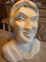 Bust of a woman inspired by picasso. Christine Dupont Btz