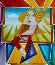 Mujer en la ventana. Francesca Bravo