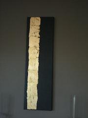 Bambú Dorado. La hoja de oro sobre lienzo. Aurélien Lily