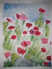 Flowers in the field.
