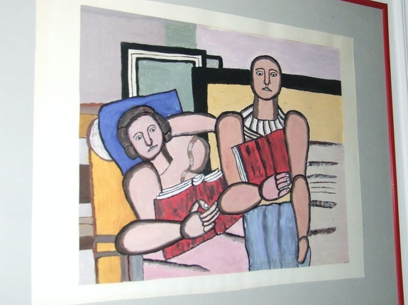 Reproduction of a painting by Fernand Leger. Luc Terrail Luc Terrail