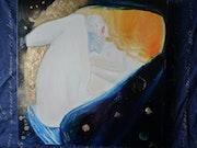 Danae: durch die Arbeit von Gustav Klimt inspiriert.