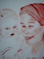Mathilde, Princess of Belgium and his granddaughter Eleanor.