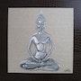 Thaïllandais silver Buddha. Martine