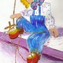 2007 The beautiful clown, he is cute….