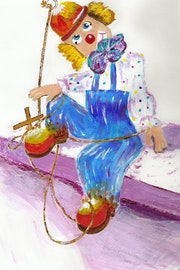 2007 The beautiful clown, he is cute….
