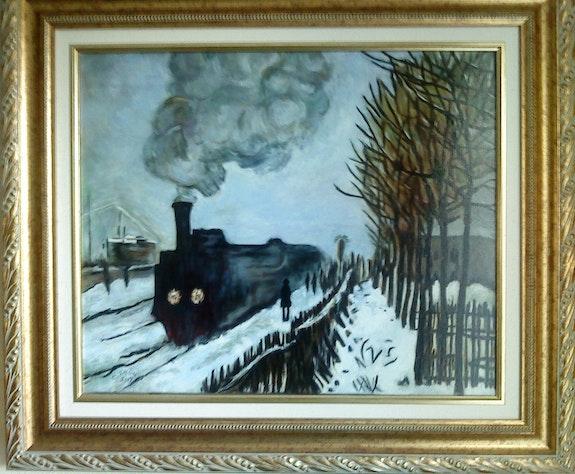 Der Prozess der Normandie, Kopie von Claude Monet. Colette Trôme Colette Trôme