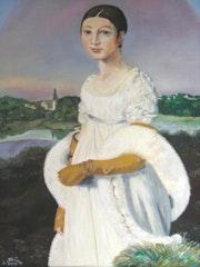 Melle Rivière d'après Ingres. Colette Trôme
