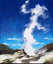 Geyzer au parc de Yellowstone.
