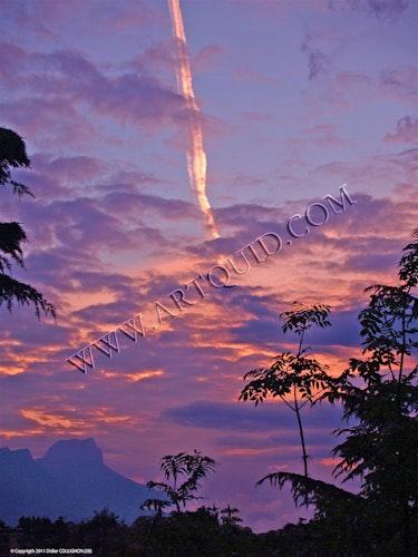 Dent de Crolles in der aufgehenden Sonne. Didier Collignon