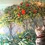 Chat au jardin. Miaolo