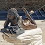 Escultura de la Pippin Madrague, St-Cyr-les-Lecques, vista frontal. Didier Collignon