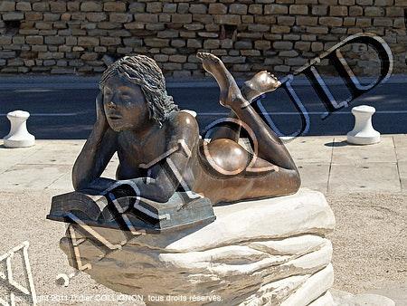 Skulptur des Madrague Pippin, St-Cyr-Les-Lecques, Frontansicht. Didier Collignon Didier Collignon