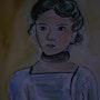 "Reproduction ""Margaret"" by Matisse. Interpretation. Ghislaine Phelut"